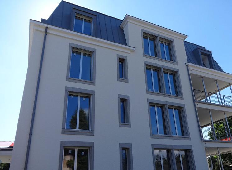 Luzern Mettenwyl, Fassade mit Balkon