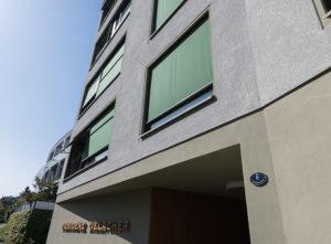 Fassade Zielacher, Eingang