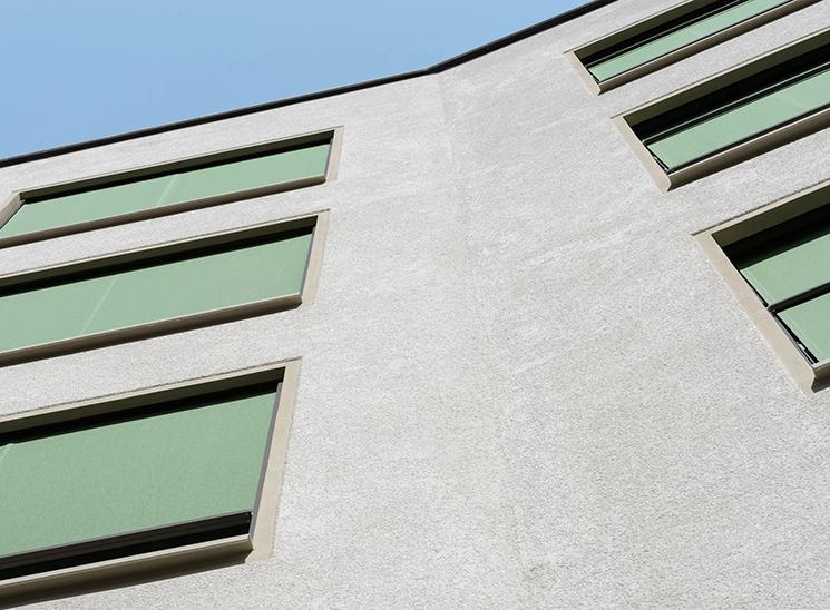 Fassade Zielacher, Ansicht Fassade von unten