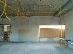 Gips Schulhaus Felsberg Luzern, Gipserarbeiten im Innenbereich