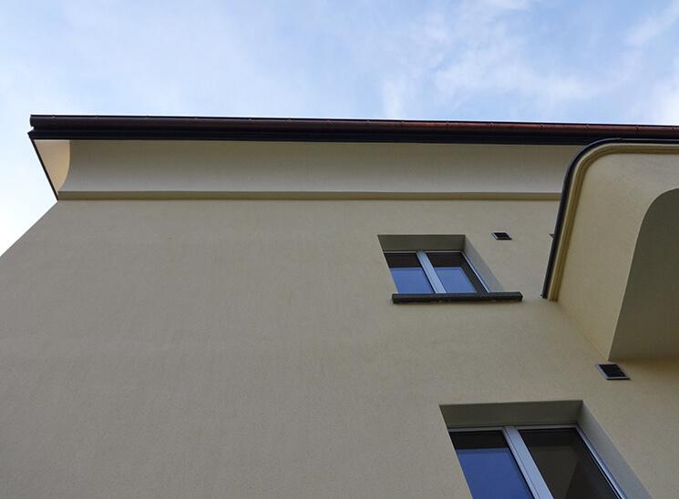 Gips Wesmelin-Terrasse Luzern, Fassade von unten