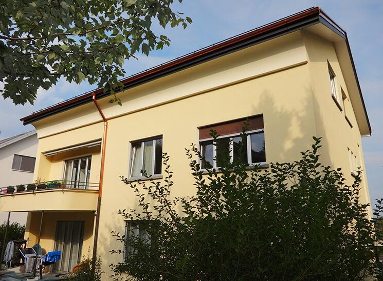 Gips Wesmelin-Terrasse Luzern, Gebäude Ansicht Fassade