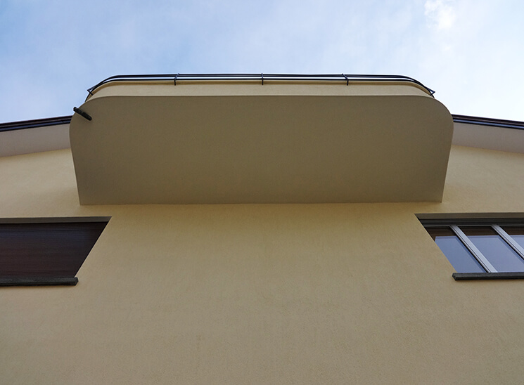 Gips Wesmelin-Terrasse Luzern, Balkon
