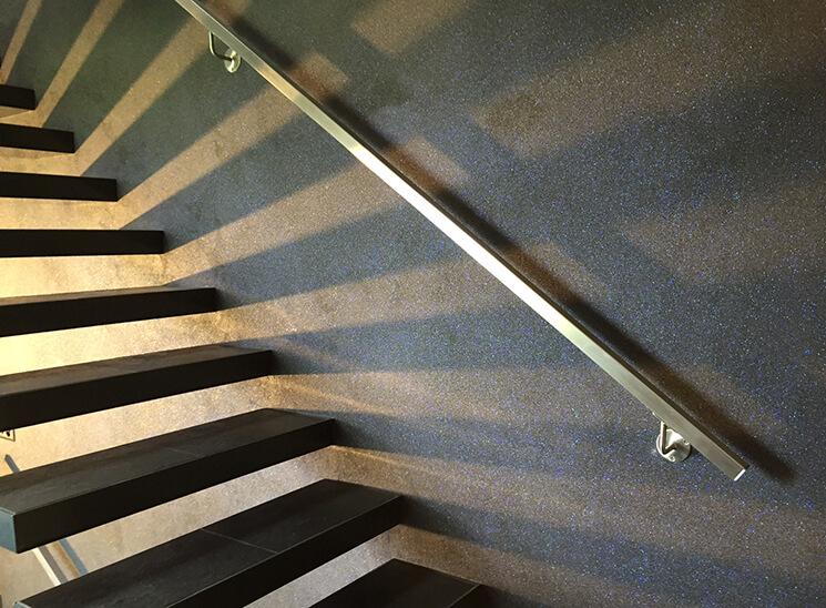 Granol Natursteinputz Treppe Sonne