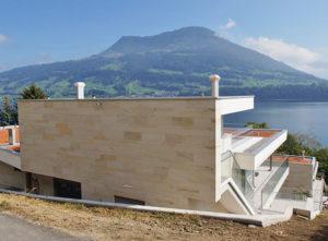 Isolation, Fassade: Lettenrain Meggen, Ansicht Rückseite
