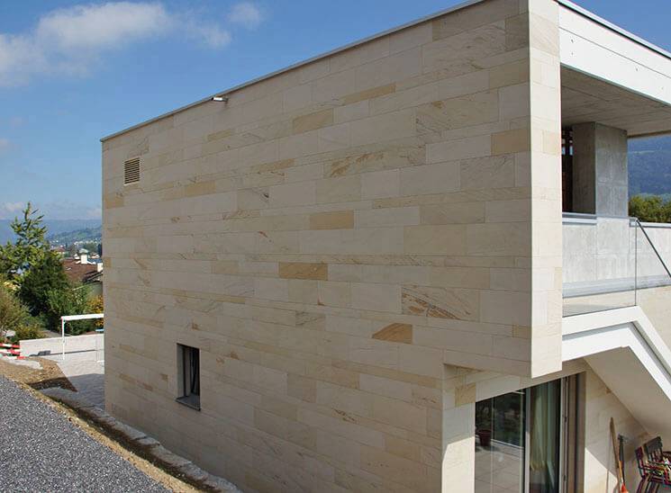 Isolation, Fassade: Lettenrain Meggen, Rückseite Kante