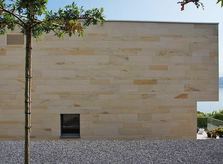 Isolation, Fassade: Lettenrain Meggen, Fassade Rückseite