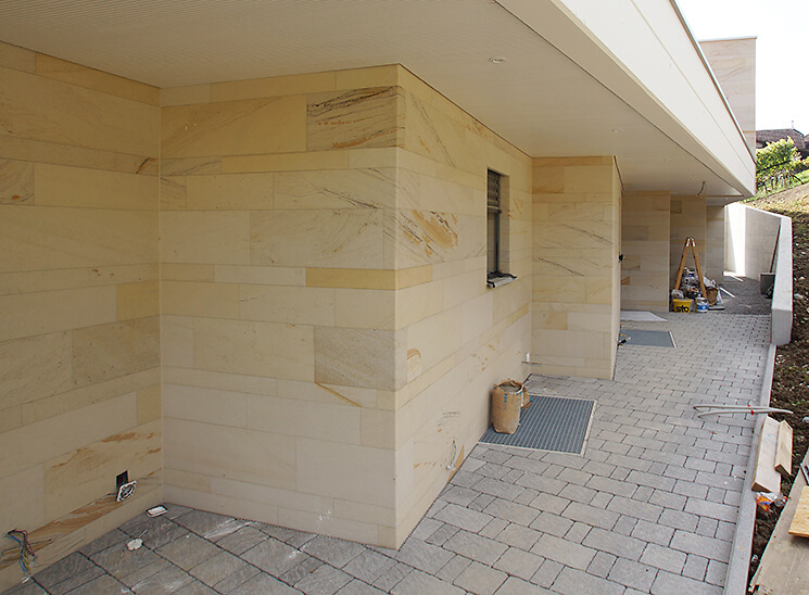 Isolation, Fassade: Lettenrain Meggen, Fassade Ecken