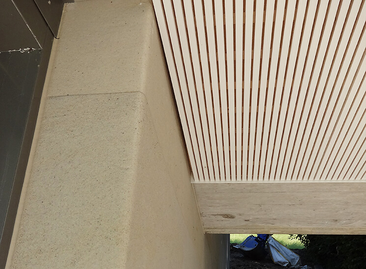 Isolation, Fassade: Lettenrain Meggen, Detail Decke