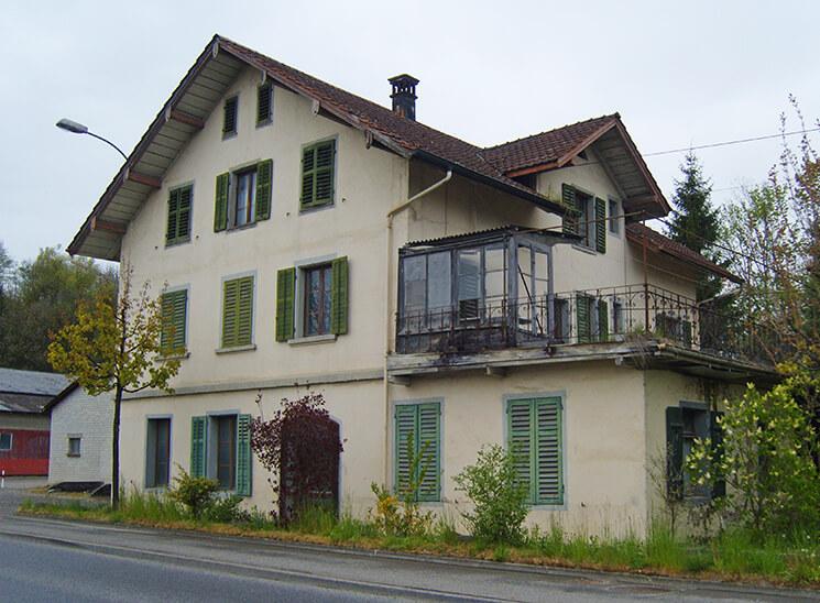 Isolationen Rothenburgstrasse Eschenbach, vorher
