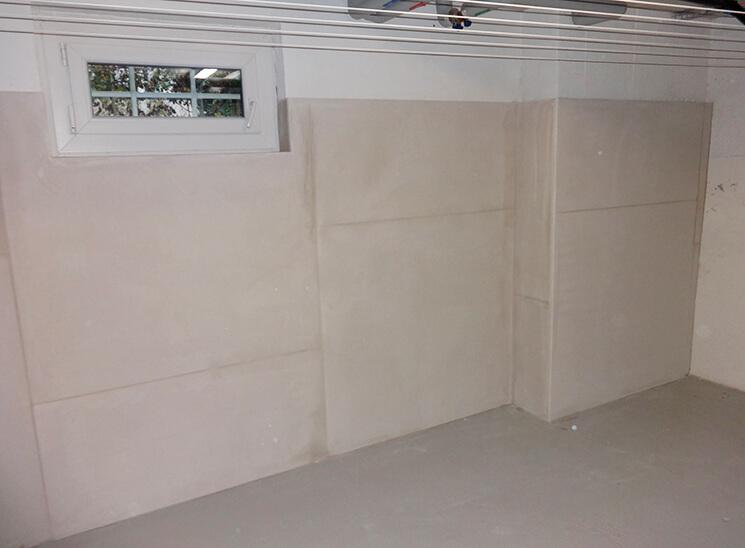 Schimmelsanierung Wand in Keller saniert