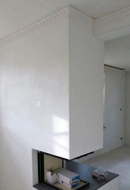 Stuckaturen in Wohnraum an Decke, HUWYLER STUDER AG