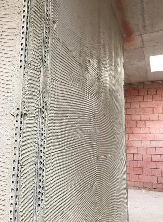 Gips Neubau Käserei Seiler Rohbau Detail