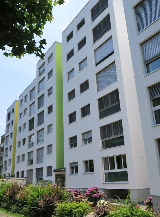 Isolation Sanierung Ruopigenring Fassade